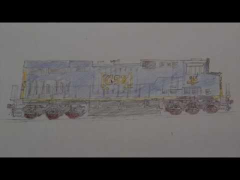 Drawn railroad csx CSX Speed Drawing: #965 #965
