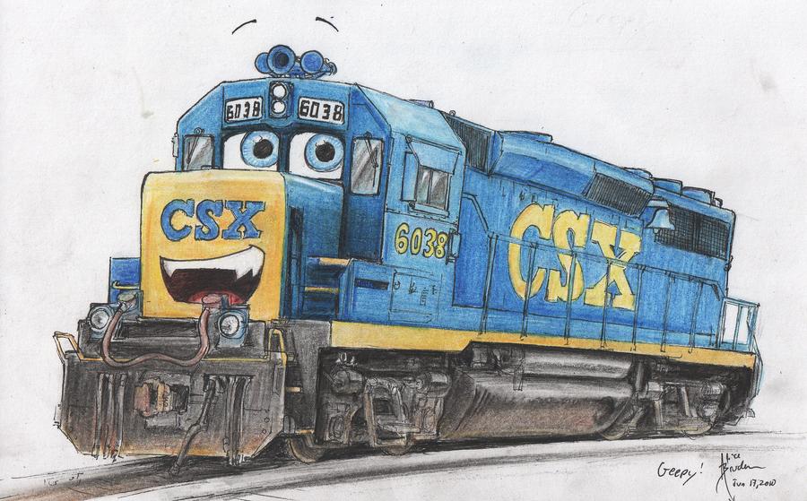 Drawn railroad csx DeviantArt CSX by by Silverwolf