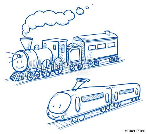 Drawn railroad cute Railway cartoon Cute railway of