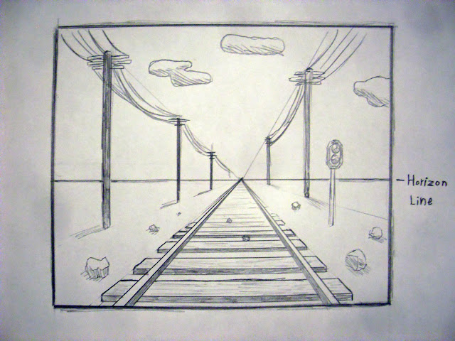 Drawn railroad draw Point one Drawing finished draw