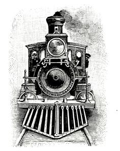 Drawn railroad draw  Steam of Locomotives drawing