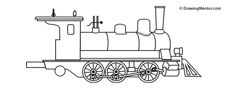 Drawn railroad draw A Draw Steam draw train