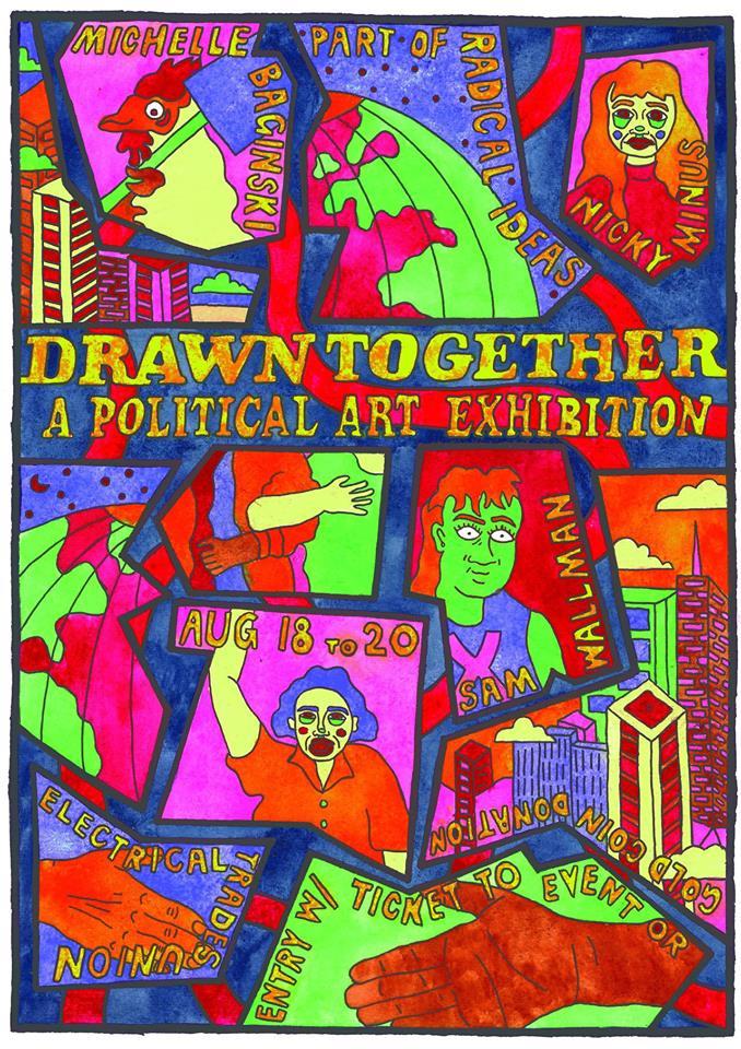 Drawn railroad drawn together Exhibition art art Creative Together: