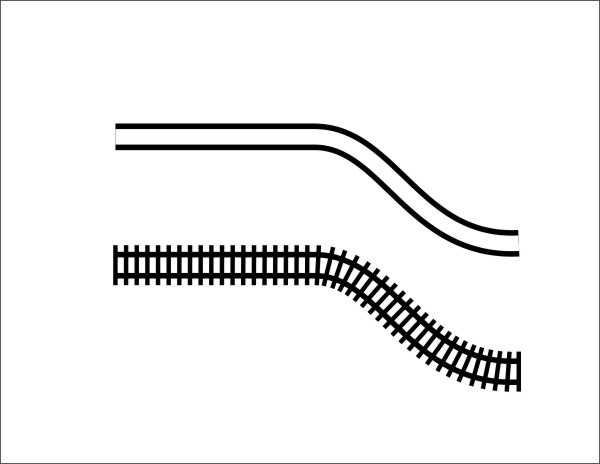 Drawn railroad easy  Line Rail Symbols