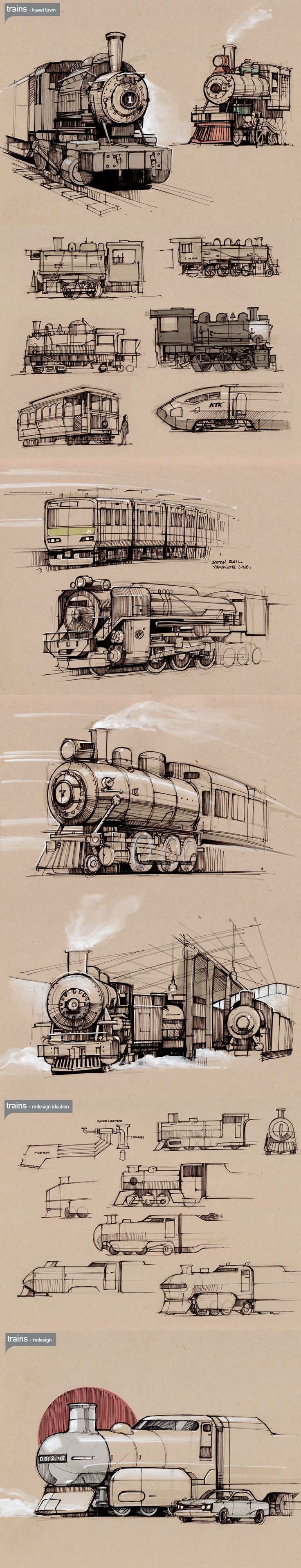Drawn train technical drawing Of  Train faces 25+