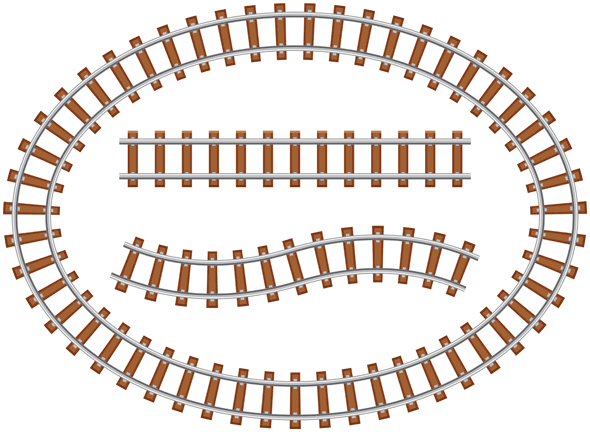 Drawn railroad illustration The Designing railroad Track in