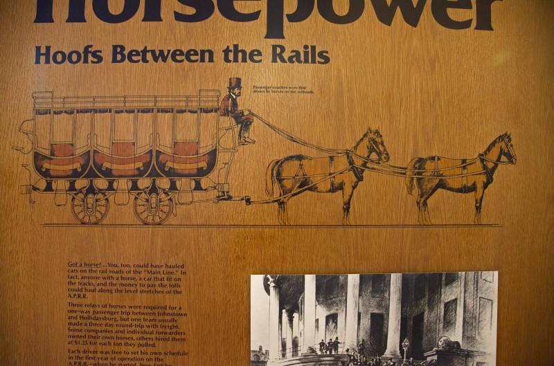 Drawn railroad illustration An Car An a Horse