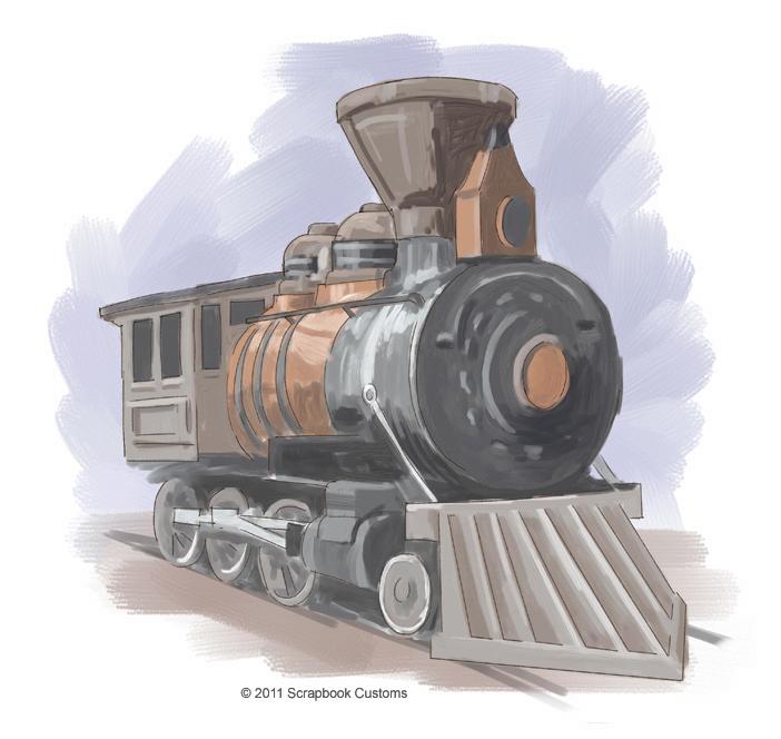 Drawn railroad illustration  Drawings Train Classic