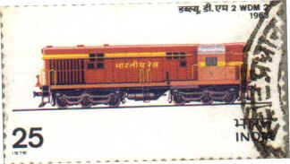 Drawn railroad indian Indian Locomotives Stamps in Indian