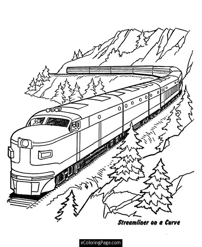 Drawn railroad kid train Coloring for Railroad pages Free