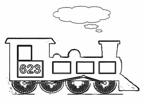 Drawn railroad kid train Steam Kids Page Coloring Train