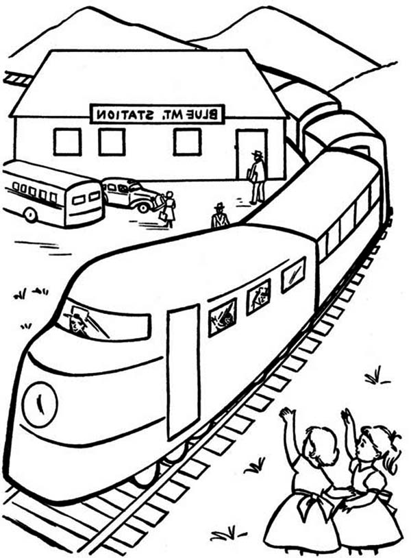 Drawn railroad kid train Page  Page Beside Railroad