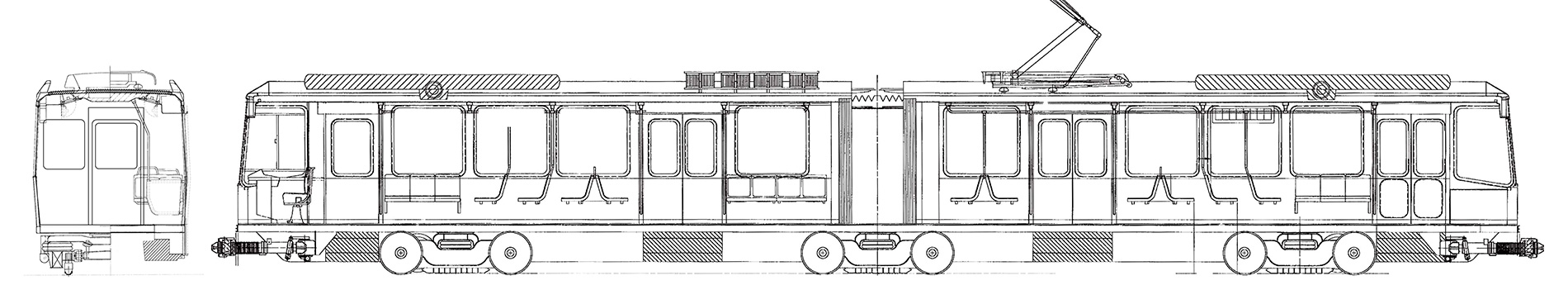 Drawn railroad metro train I features realised several drawing