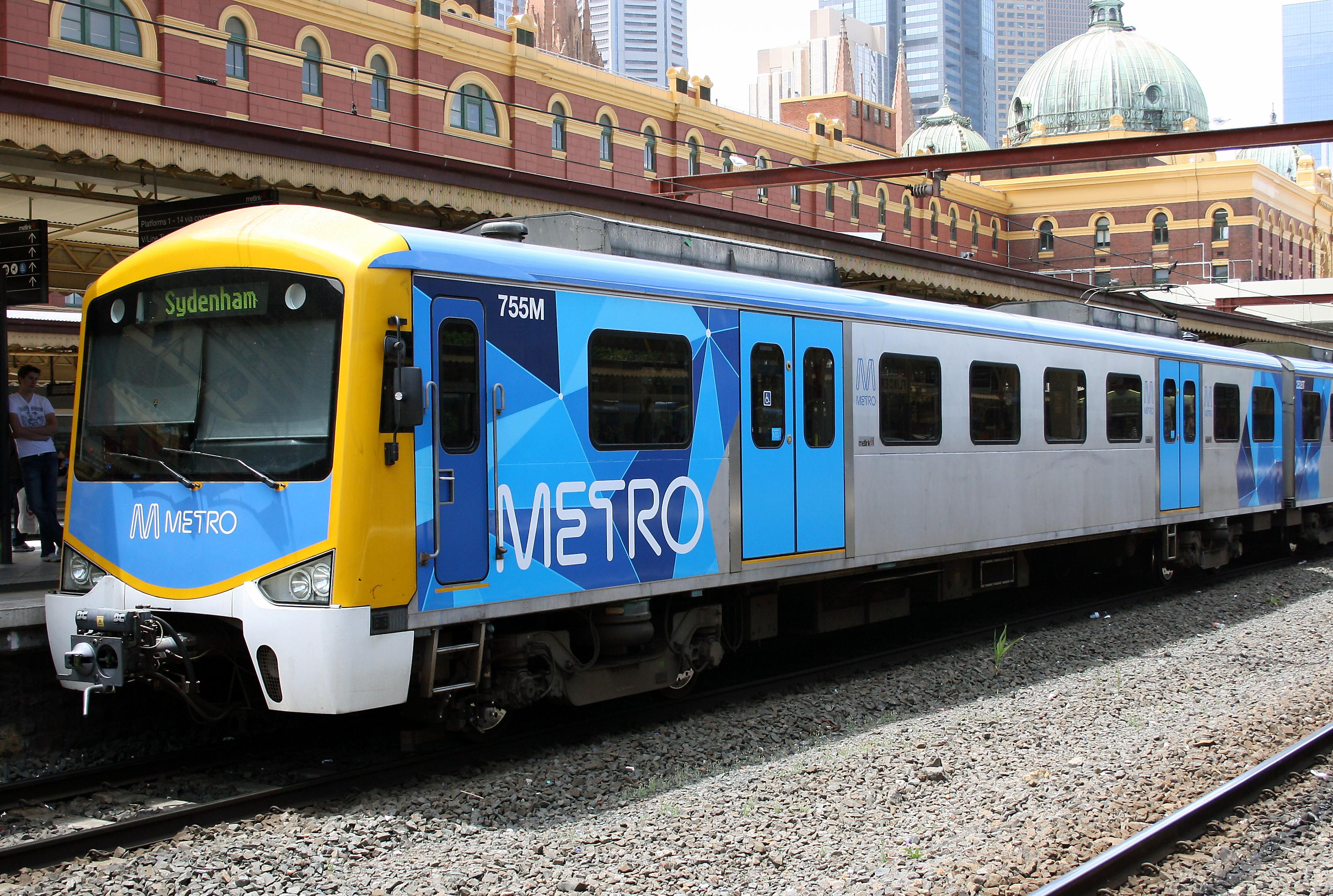 Drawn railroad metro train Wikiwand  Railways Melbourne in