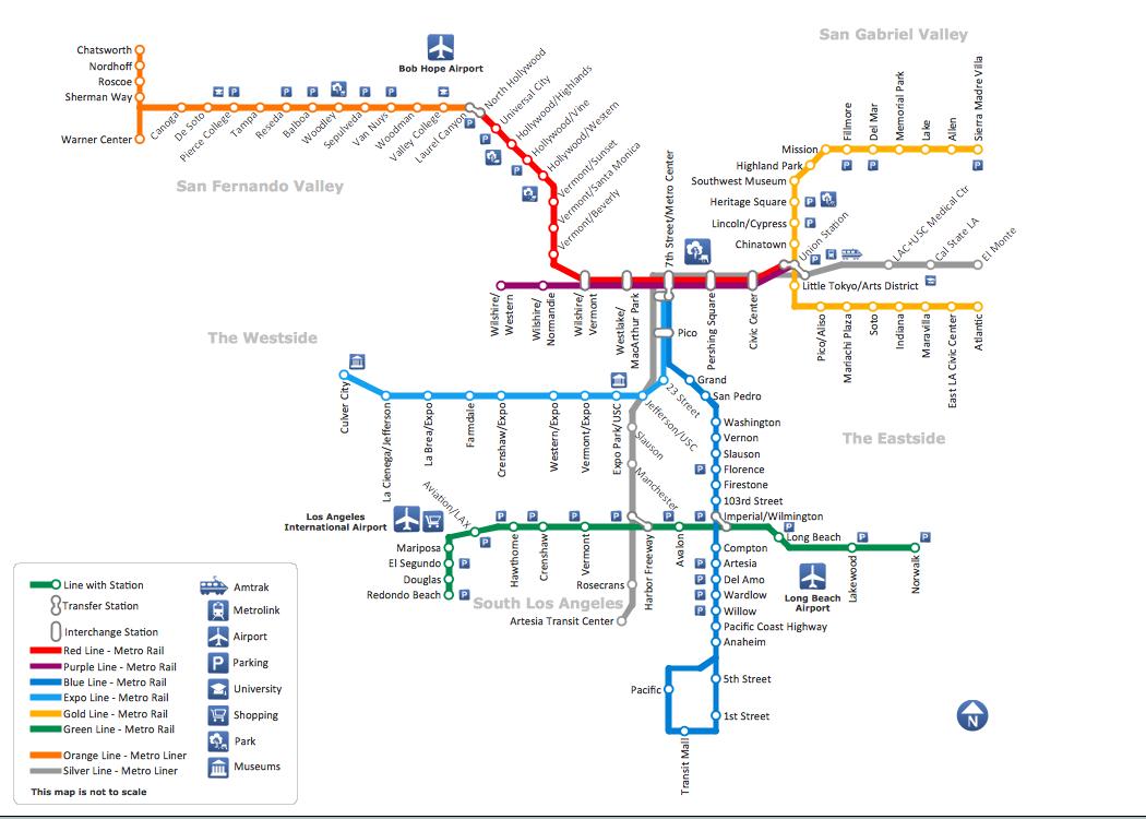 Drawn railroad metro train Los Map Map Map Metro