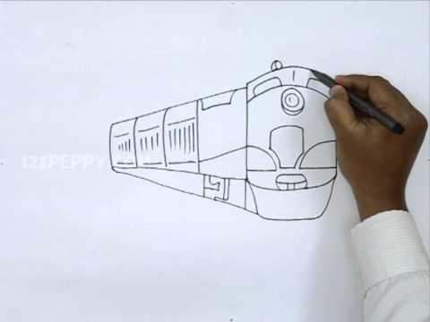 Drawn railroad metro train Train Train YouTube to How