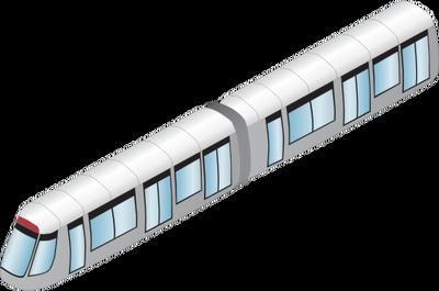 Drawn railroad metro train Symbol Illustration Vector Illustration vector