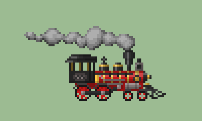 Drawn railroad pixel art Entry Art Train  on