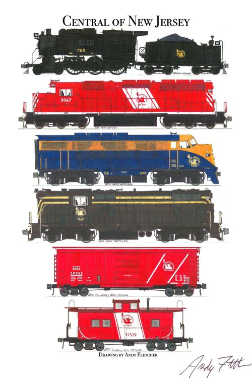Drawn railroad red Jersey drawings Andy & 153