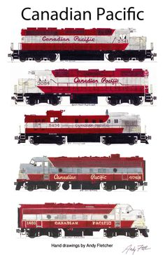 Drawn railroad red Maroon paint Hand DrawingTrain by