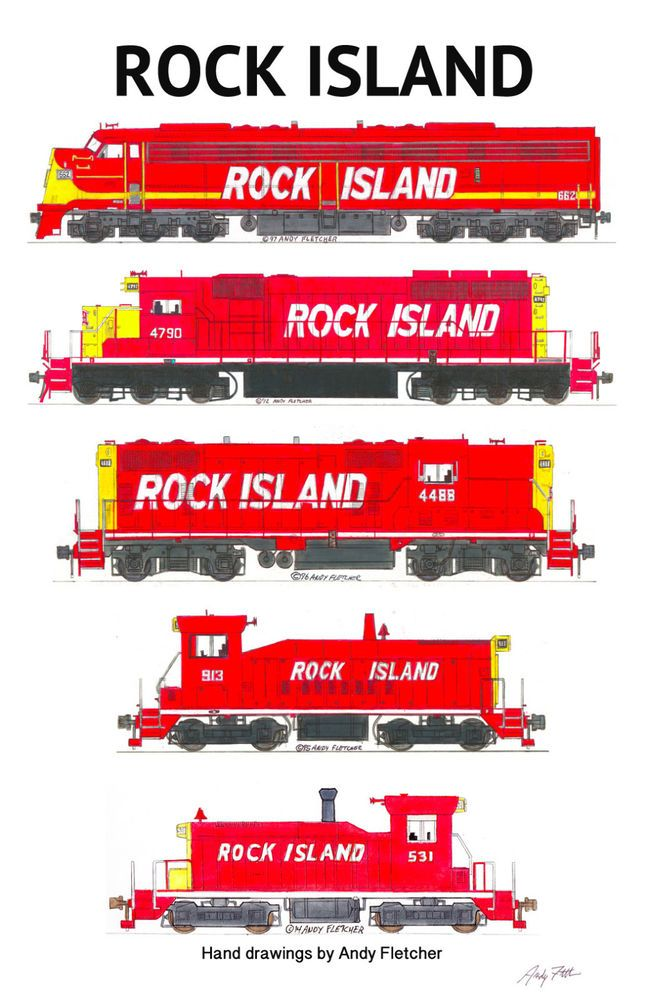 Drawn railroad red Poster by Fletcher Locomotives 139