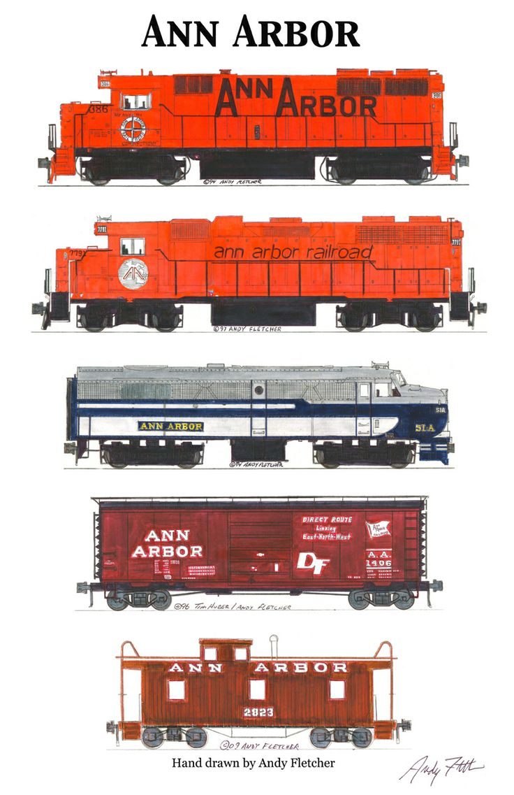 Drawn railroad red By Andy 153 Schemes Railroad