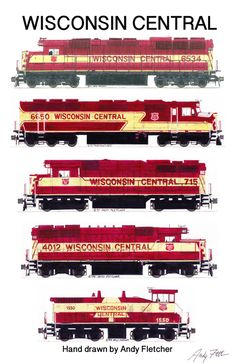 Drawn railroad red By Andy 6 locomotive drawn