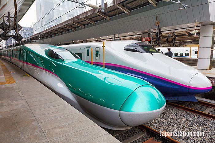 Drawn railroad shinkansen Tokyo – at train Shinkansen