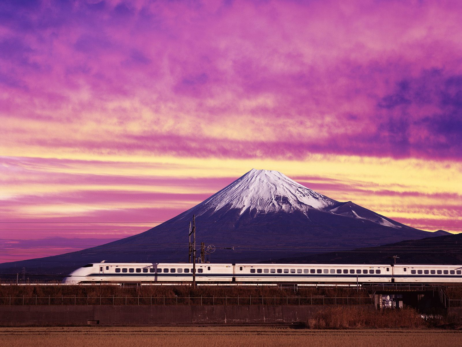 Drawn railroad shinkansen Trains bullet  and bullet