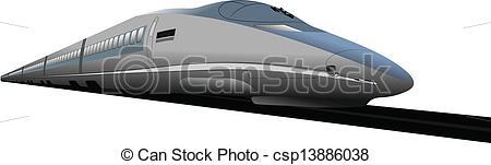 Drawn railroad shinkansen Ill Vector Vector train bullet