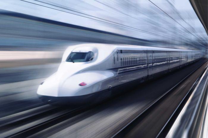 Drawn railroad shinkansen Voice Gear Australian The train