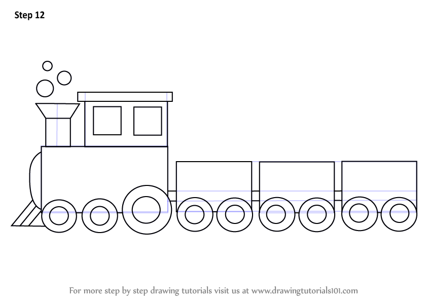 Drawn railroad simple Necessary Draw Learn Step Make