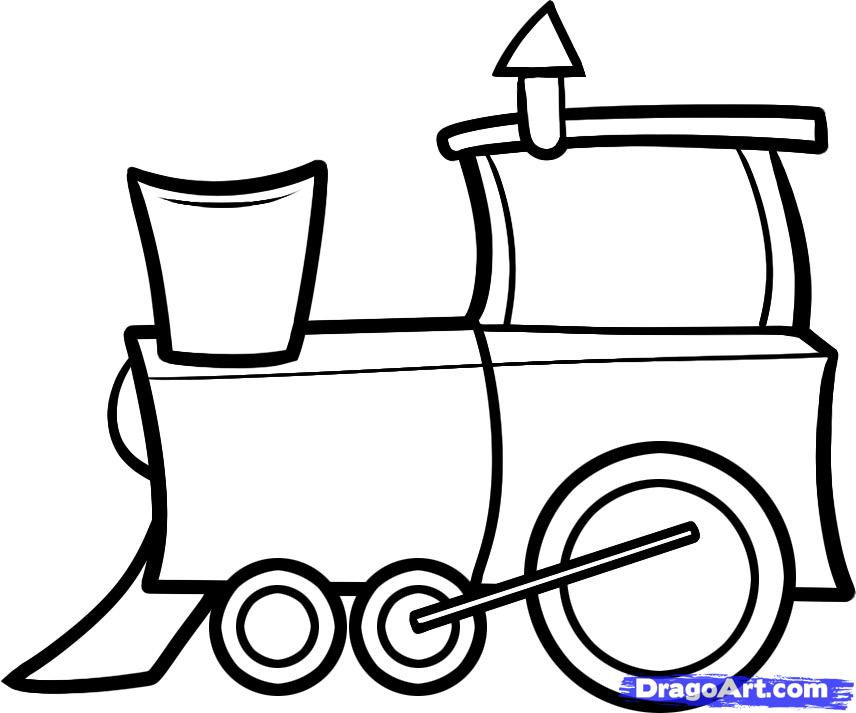 Drawn railroad simple To to step Step how
