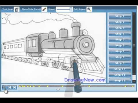 Drawn train passenger train Train to Train How to