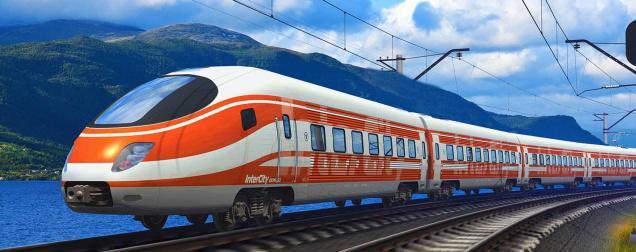 Drawn railroad speed train High speed are rail will