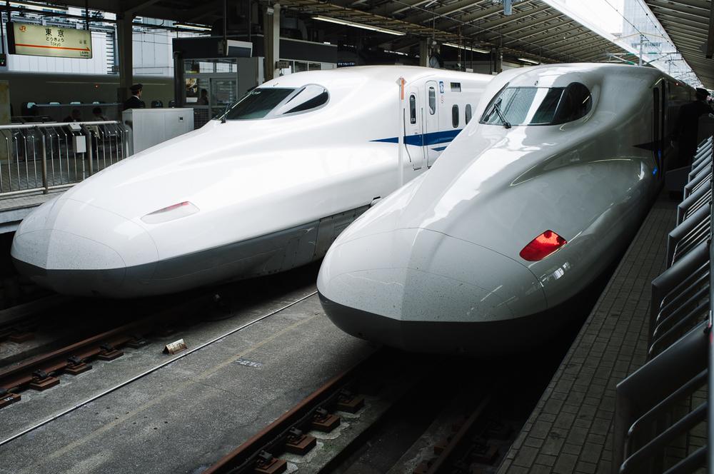 Drawn railroad speeding bullet Speeding Shinkansen Bullet Brad Merrett