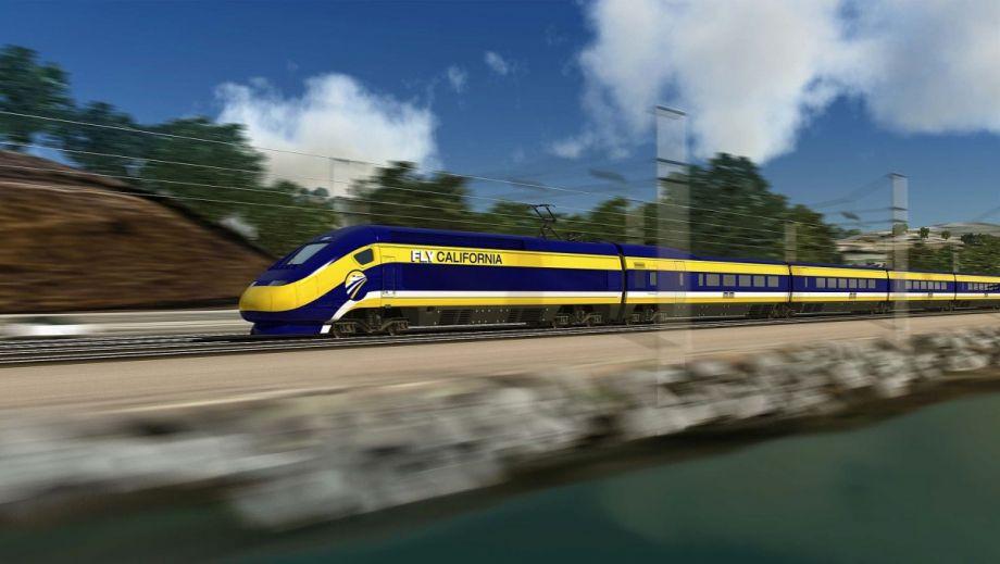 Drawn railroad speeding bullet Train North $64 America's First