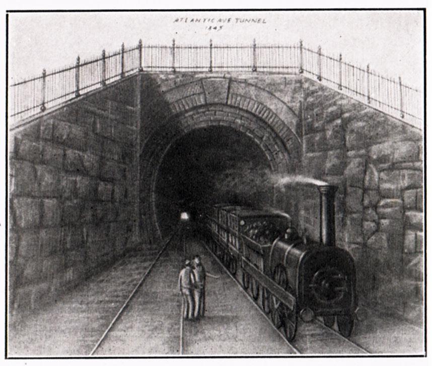 Drawn railroad subway Tunnel  Atlantic BHRA: Avenue