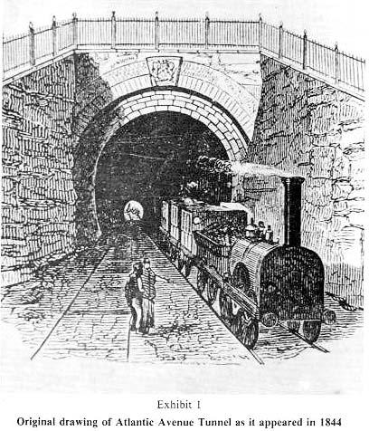 Drawn railroad subway Tunnel the BHRA: An Tunnel