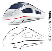 Drawn railroad superfast Free Clip Superfast of and