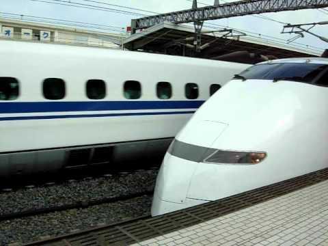 Drawn railroad superfast 250 fast train) Japan Super