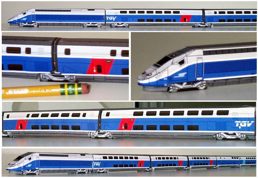 Drawn railroad tgv train (Train to (Train TGV models