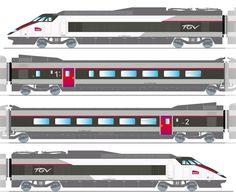Drawn railroad tgv train · fast that going engines