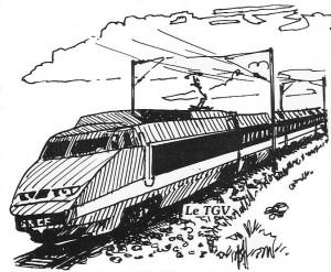 Drawn railroad tgv train Train Odysseys the Bus &