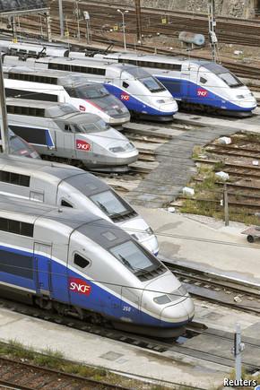 Drawn railroad tgv train Speed line Problems in rail