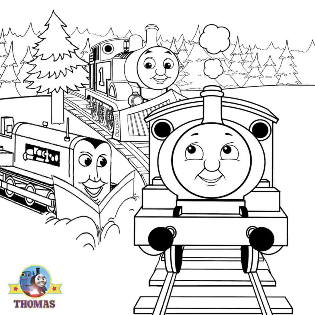 Drawn railroad thomas the tank engine Friends fun colouring and sheets