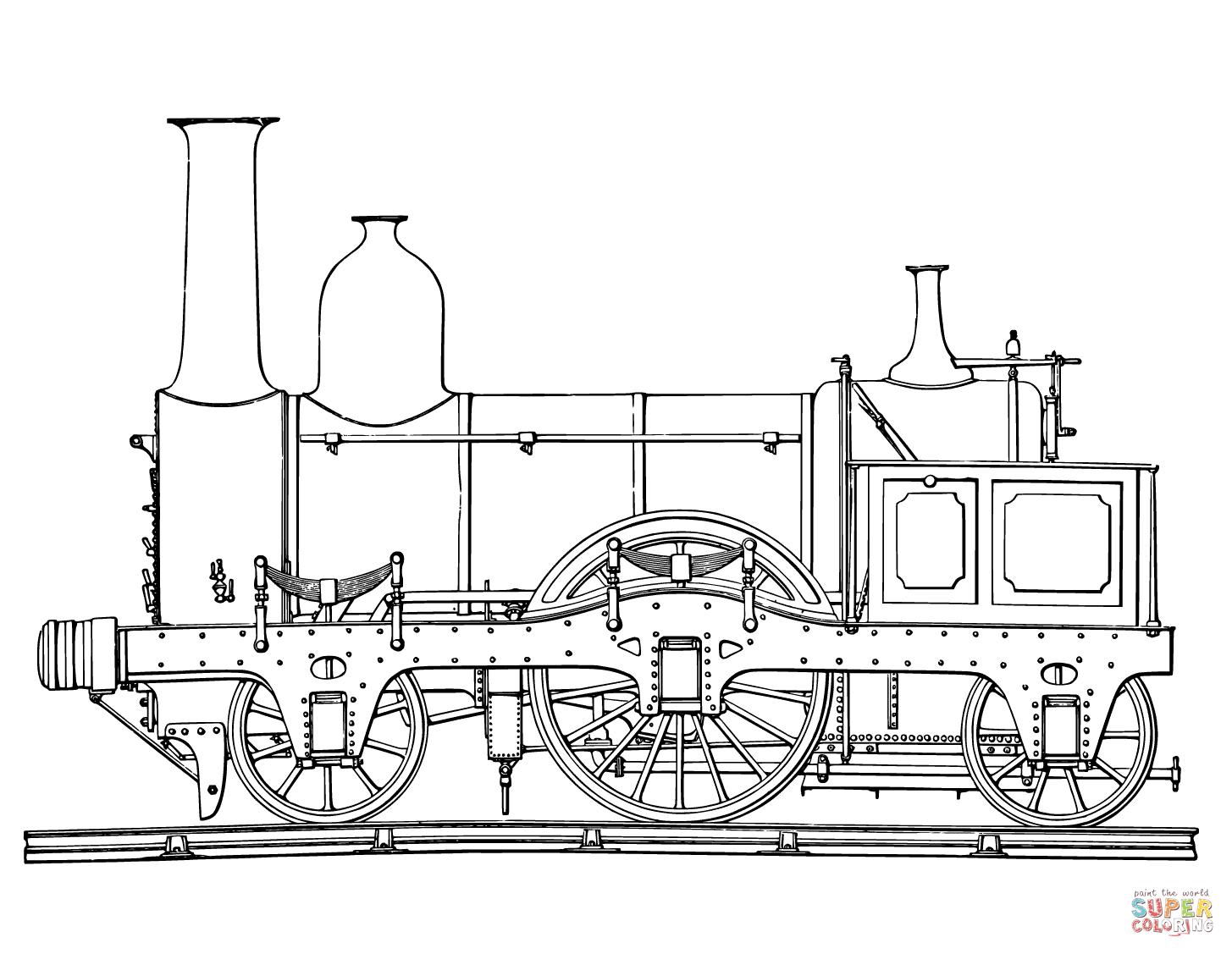Drawn railroad tractor Click Free Steam Train Steam