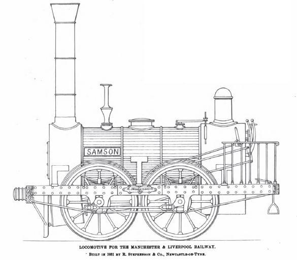 Drawn railroad tractor Replica of the