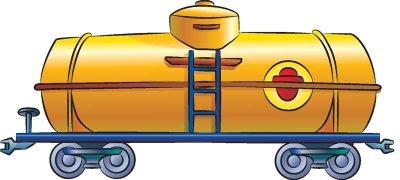 Drawn railroad train car Train freight create in for