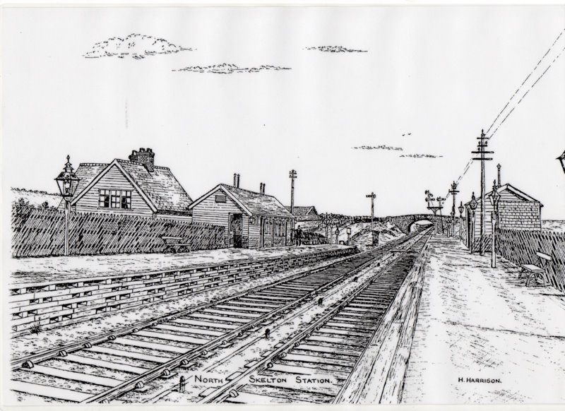 Drawn railroad train station « Cleveland Skelton East Stations